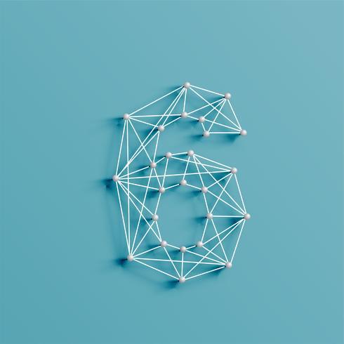 Un personnage fait de pins et de lignes, 3D et réaliste, vector