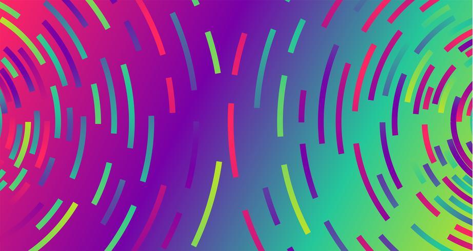Fond de cercles colorés au néon, vector