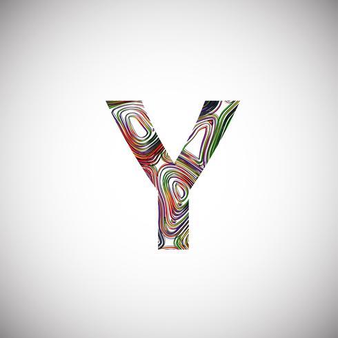 Caráter colorido de um tipo de letra, ilustração vetorial