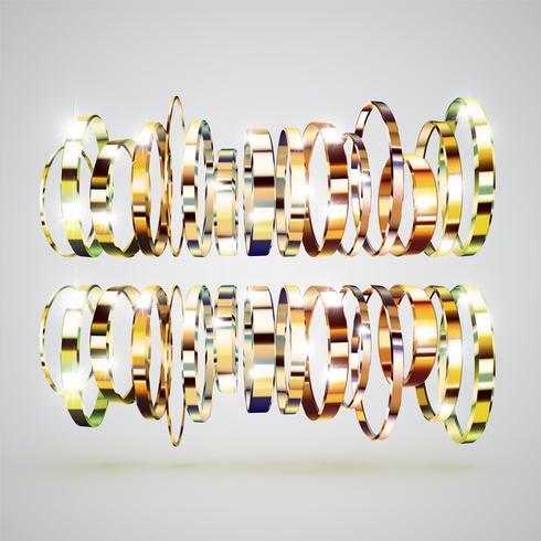 Gouden ringenachtergrond, vectorillustratie