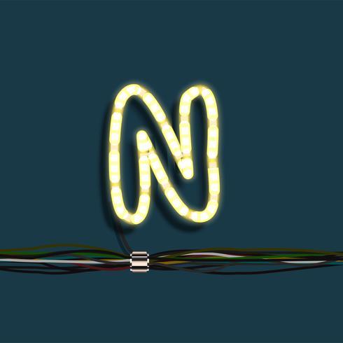 Neon krans brev, vektor