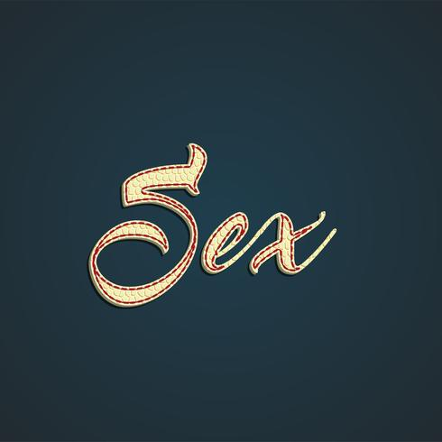 'Sex' läderskylt, vektor illustration