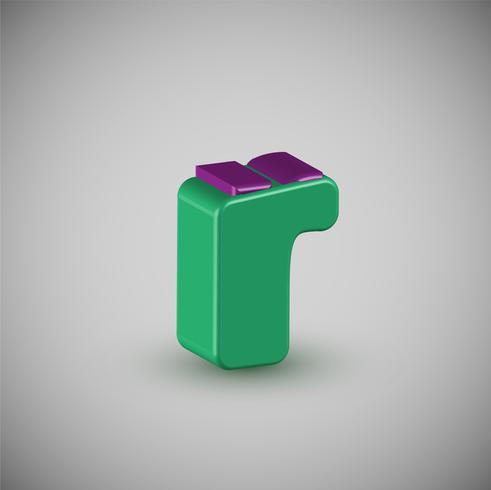 Carattere variopinto 3D da un composto, vettore