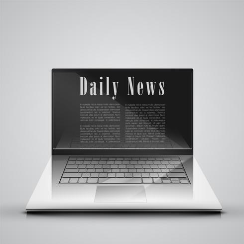 News on the computer, vector illustration