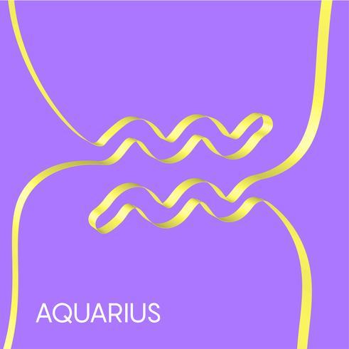 Cinta de colores da forma a un signo del zodiaco, vector