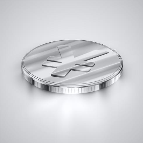 Realistische Münze, Vektorillustration