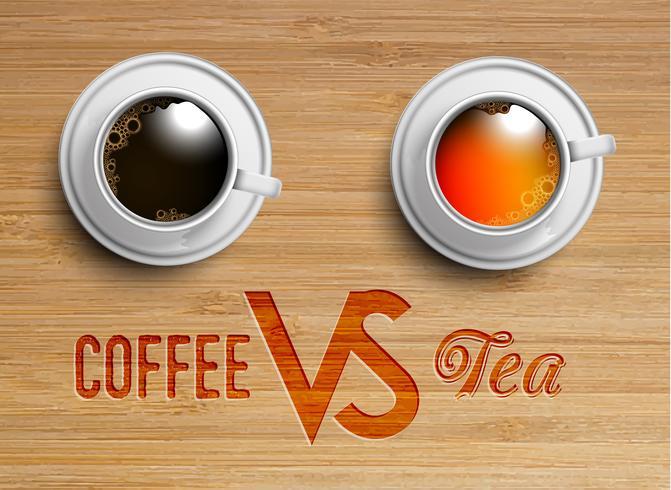 En realistisk kopp te / kaffe, vektor