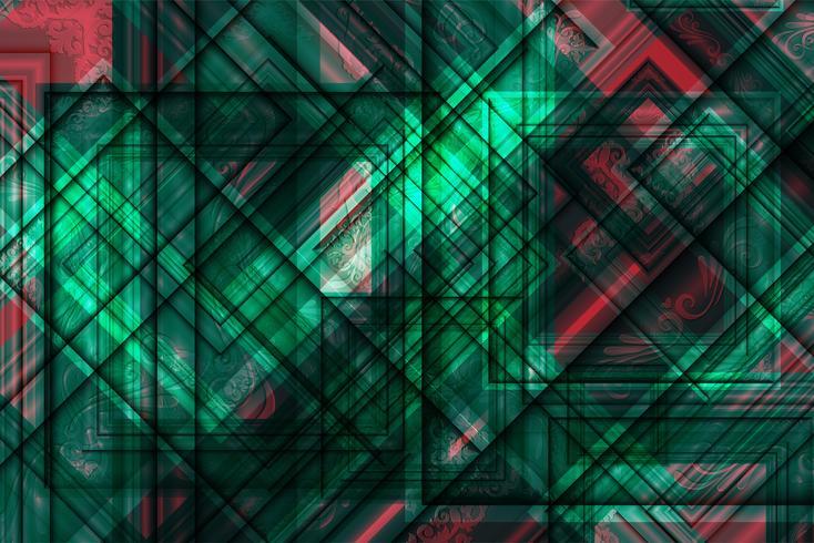 Fondo variopinto poligonale astratto con i punti e le linee collegati, struttura del collegamento, fondo futuristico del hud, illustrazione di vettore
