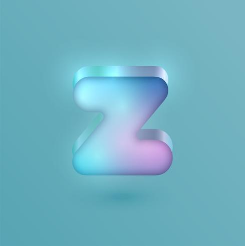 3D realistischer Neoncharakter, Vektor