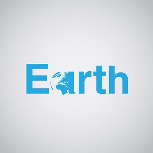 'Terra' texto inclui terra, ilustração vetorial vetor