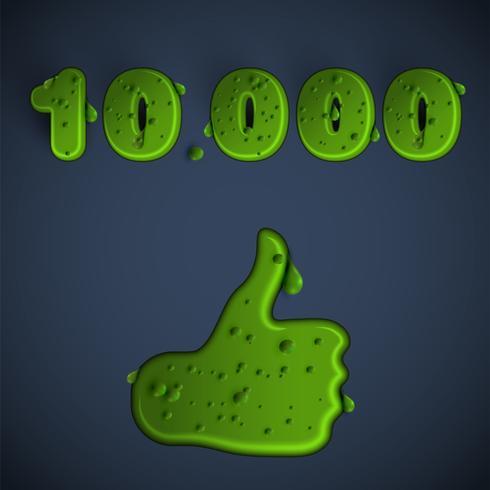 Green slime like, vector