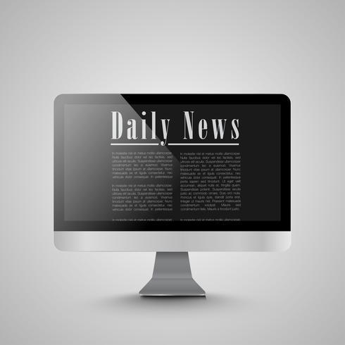 Nyheter på datorn, vektor illustration