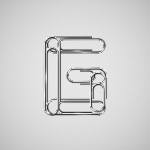 Paperclips enlazados formando un personaje, vector.
