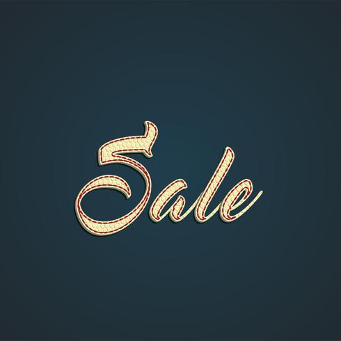 'Sale' leather sign, vector illustration