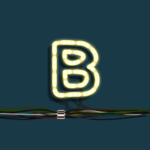 De slingerbrief van het neon, vector