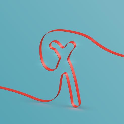 Fonte de fita realista de um typeset, vector