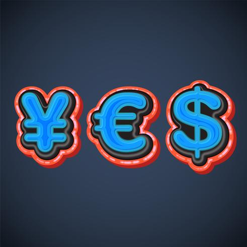"""3d financial characters forming """"yes"""", vector"""