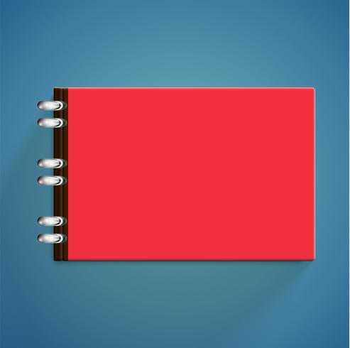 Libros coloridos realistas con sombra, ilustración vectorial