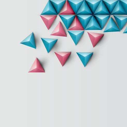 Priorità bassa del triangolo realistico 3D, illustrazione vettoriale