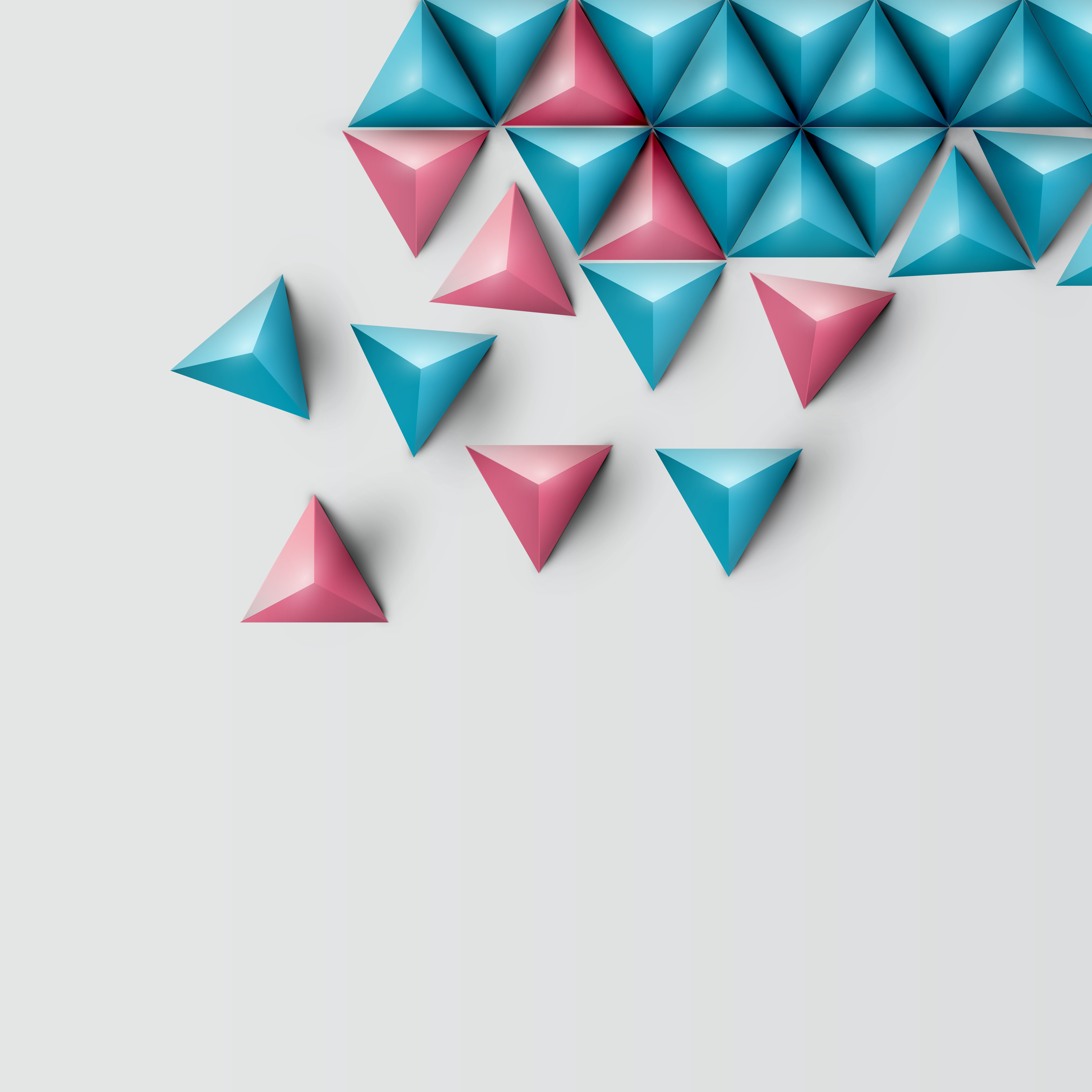 3D realistic triangle background, vector illustration ...