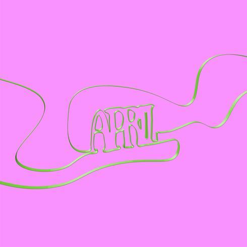 Band typsnitt 'april', vektor illustration