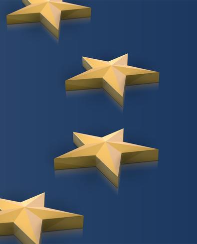 Estrellas de la bandera de la Unión Europea en 3D, vector