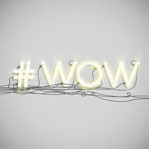 Neon hashtag ord, vektor illustration