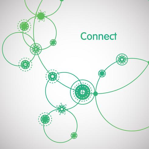 Groene 'Connection' illustratie, vector