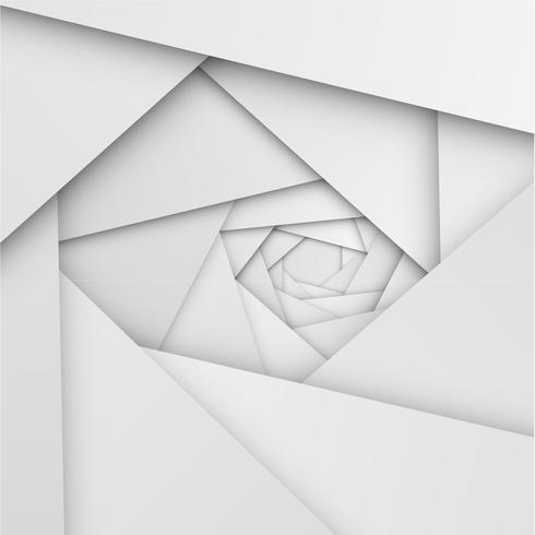 Abstracte witte achtergrond met vouwen en schaduwen, vectorillustratie