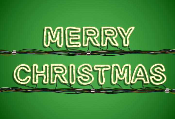 'Merry Christmas' lettertype collectie, vector