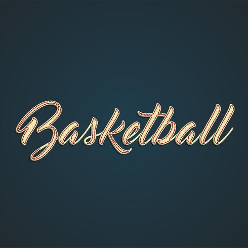 Signe de cuir 'Basketball', illustration vectorielle