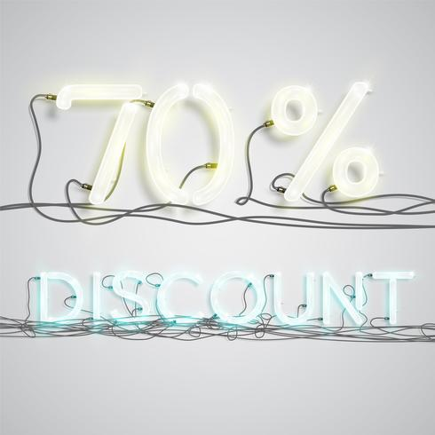 Pourcentage de réduction, illustration vectorielle