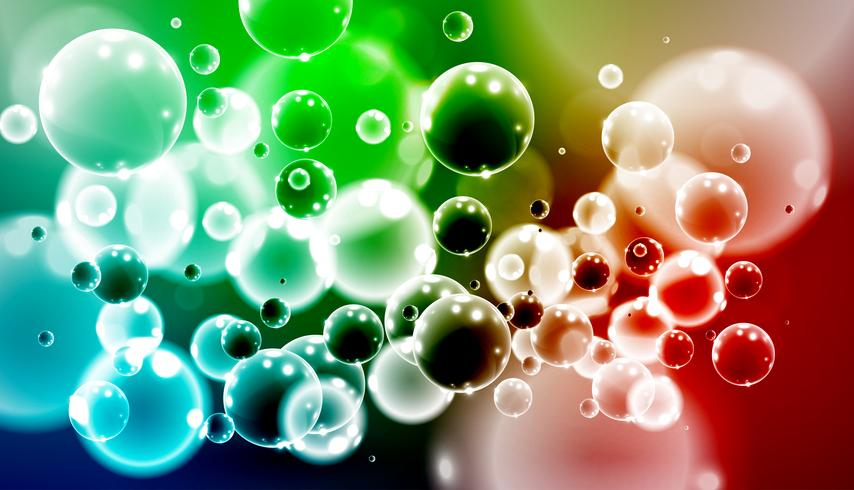 Colorful realistic 3D bubbles, vector illustration