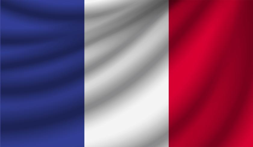 Bandera realista, ilustración vectorial