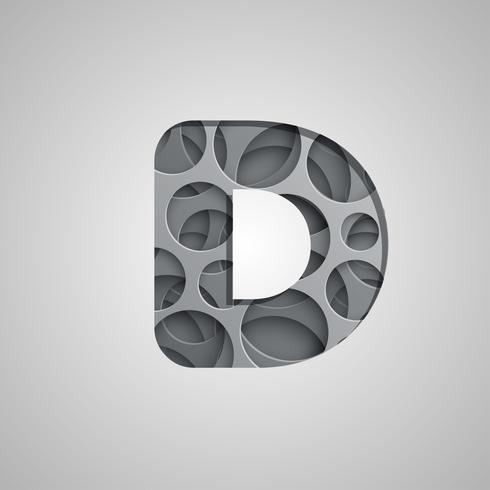 Layered 'hole' character from a fontset, vector