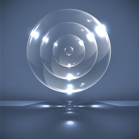 Sfere di vetro realistico, vettore