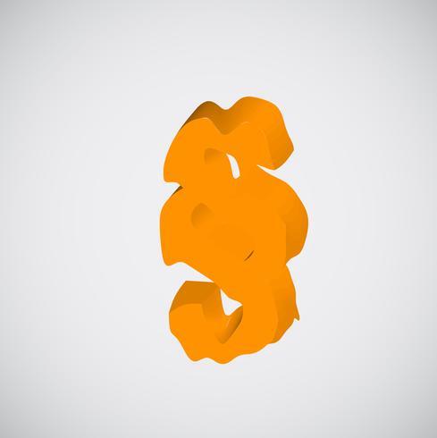 Carácter naranja de fusión, vector