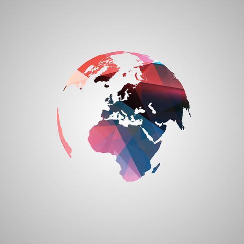 Abstrakt världs vektor symbol