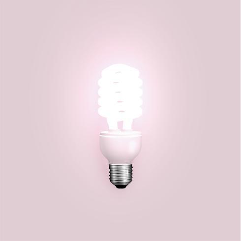 Energy saver lightbulb, vector illustration