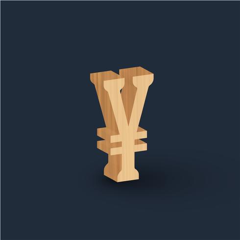 Zeichen des hölzernen Zeichens 3D, Vektor