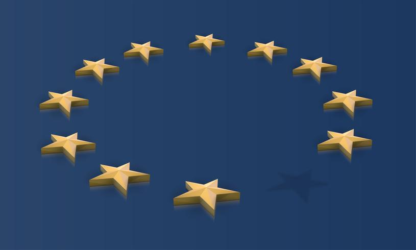 Missing star from the EU flag, vector