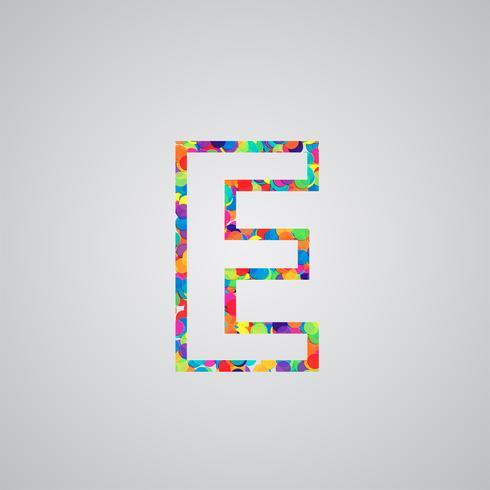 Bunter Charakter von einem Schriftsatz, Vektorillustration