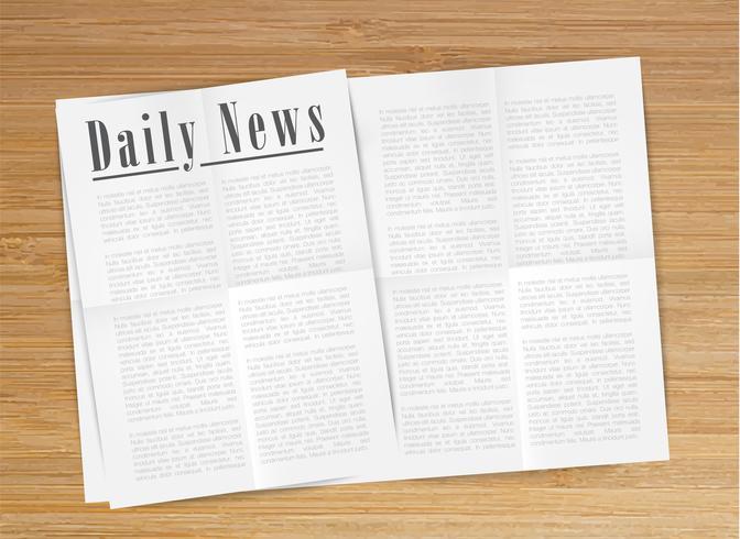 Realistic newspaper, vector