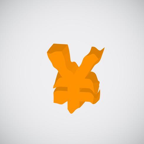 Personagem laranja de derretimento, vetor