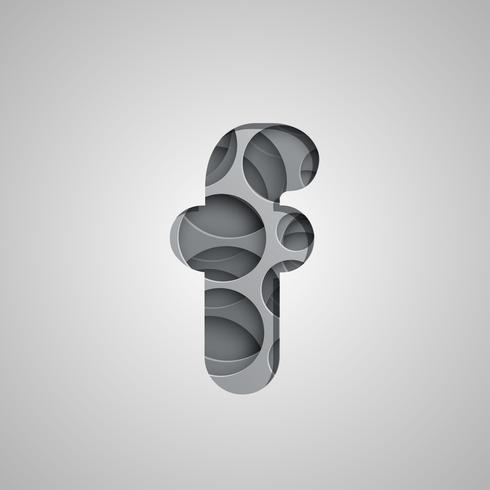 Geschichtetes 'Hole'-Zeichen aus einem Fontset, Vektor