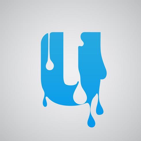Carattere di flusso blu, vettore
