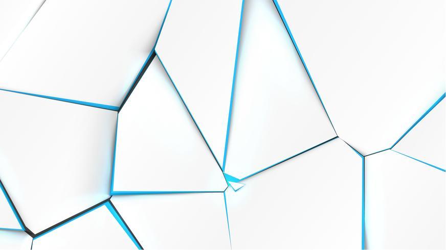 Superficie rota con color azul en el interior, ilustración vectorial