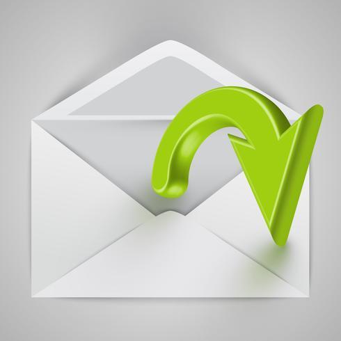 Vecteur enveloppe ouverte