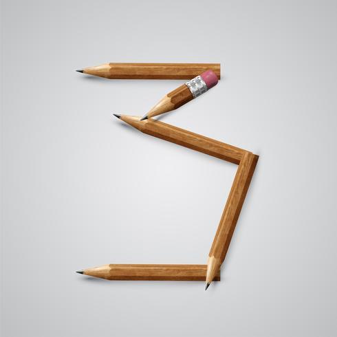 Personagem de lápis de um typeset, ilustração vetorial vetor