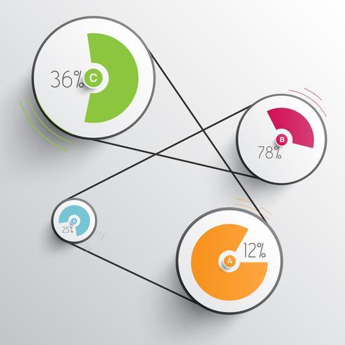 Infografia abstrata de negócios para publicidade vetor
